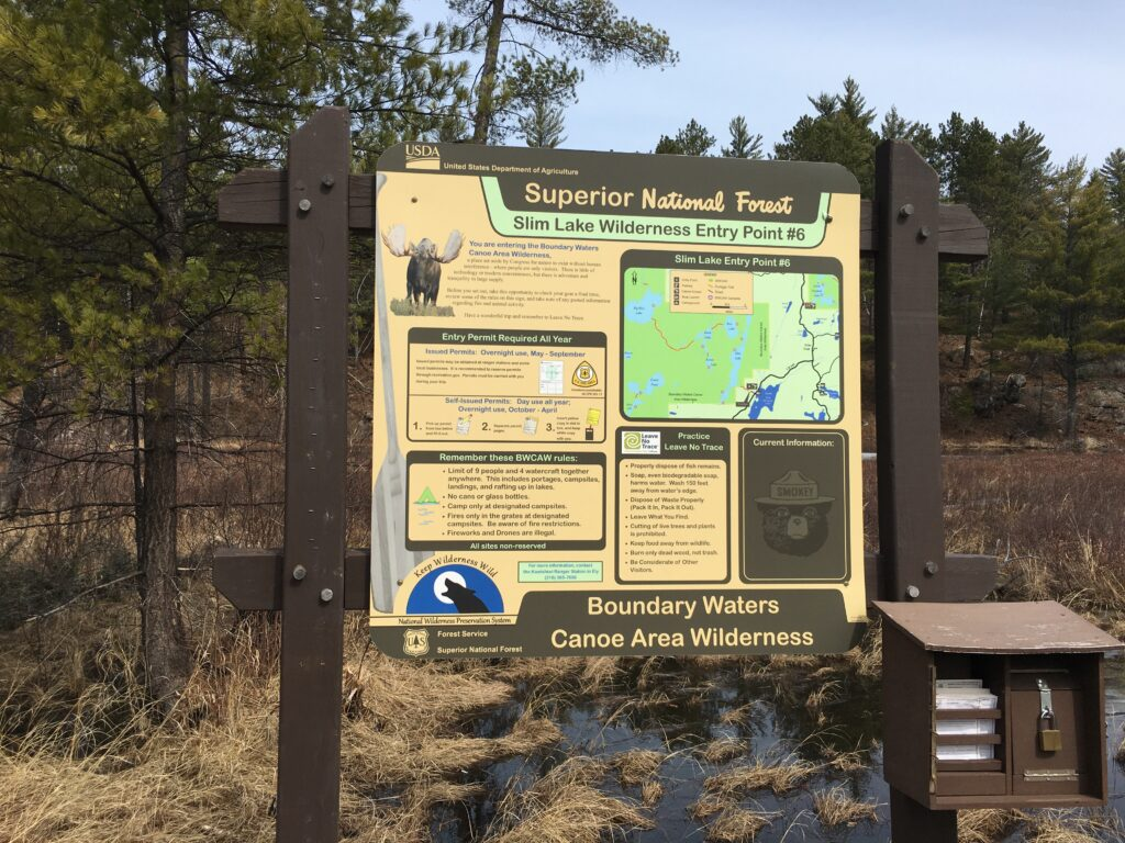 Boundary Waters Entry Points-Slim Lake-River Point Outfitting Co.-Ely MN